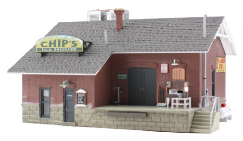 Woodland Scenics BR5028 Chip's Ice House- HO Scale (1)